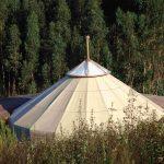 yurt with earthy color pyjama