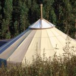 yurt with earthy color pyjama