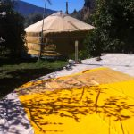 Workfloor for making yurtcovers